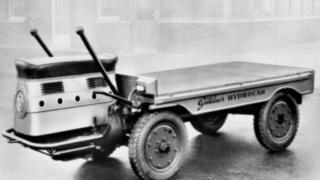 Der Hydrocar, eines der ersten Lastenfahrzeuge von Linde Material Handling