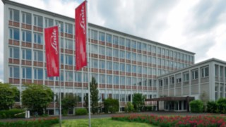 Gebäude des Headquartes von Linde Material Handling in Aschaffenburg